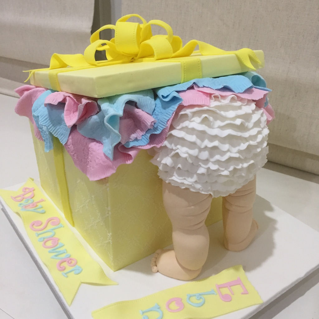 Baby in the Box Cake