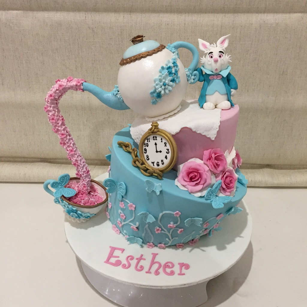 The Mad Hatter Tea Party Cake
