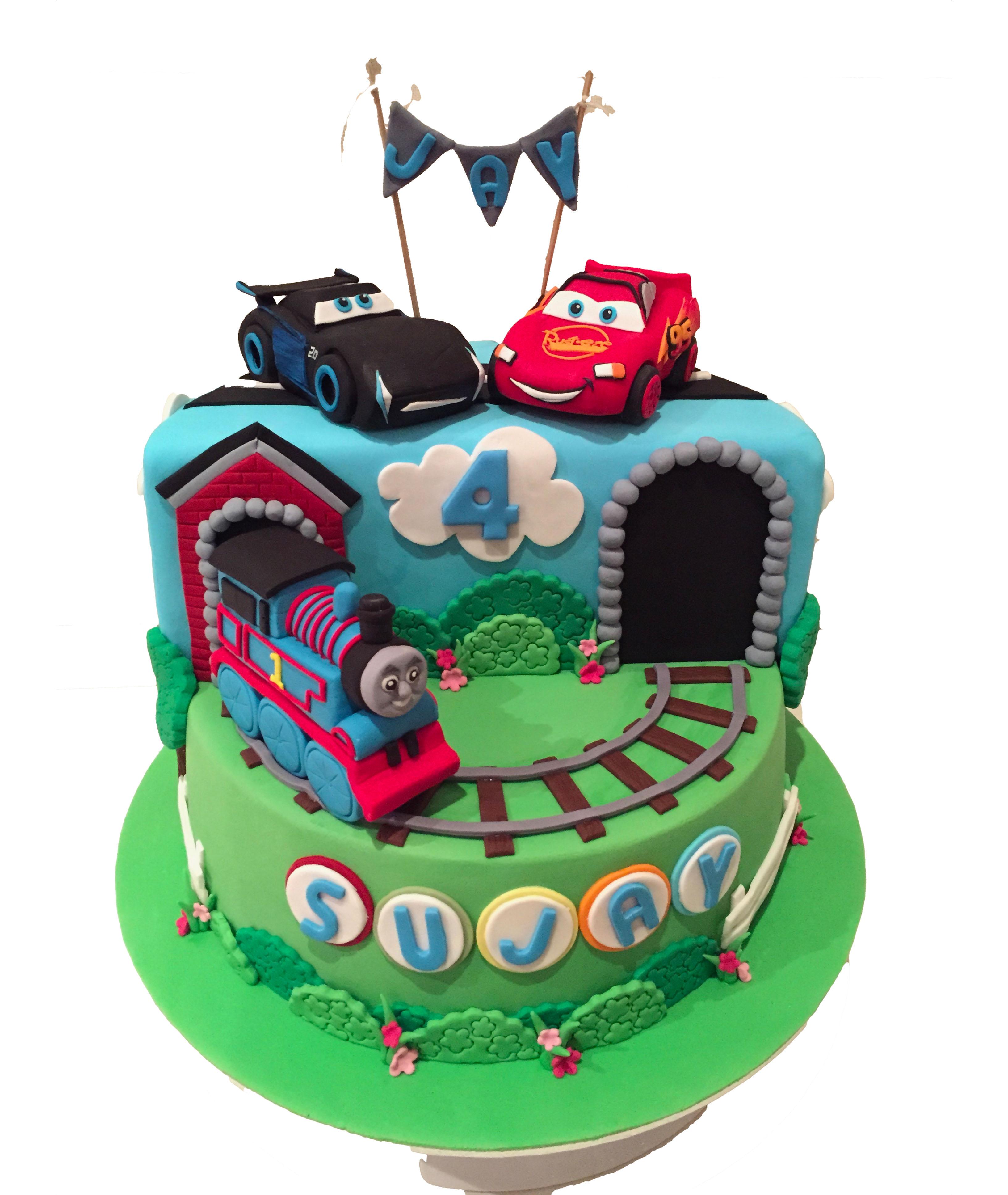 Thomas, McQueen and Jacksonstorm cake