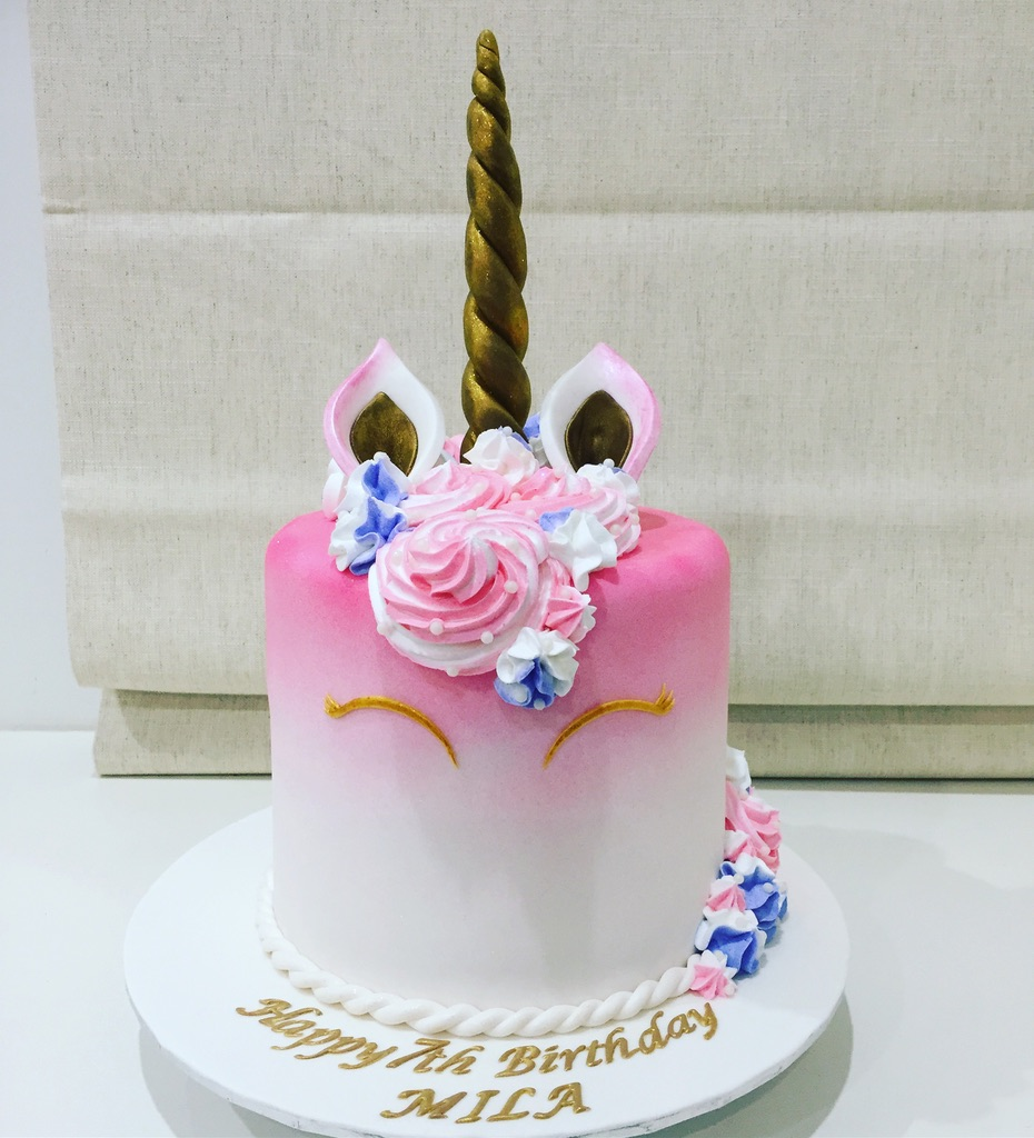 Unicorn Umbre pink Cake