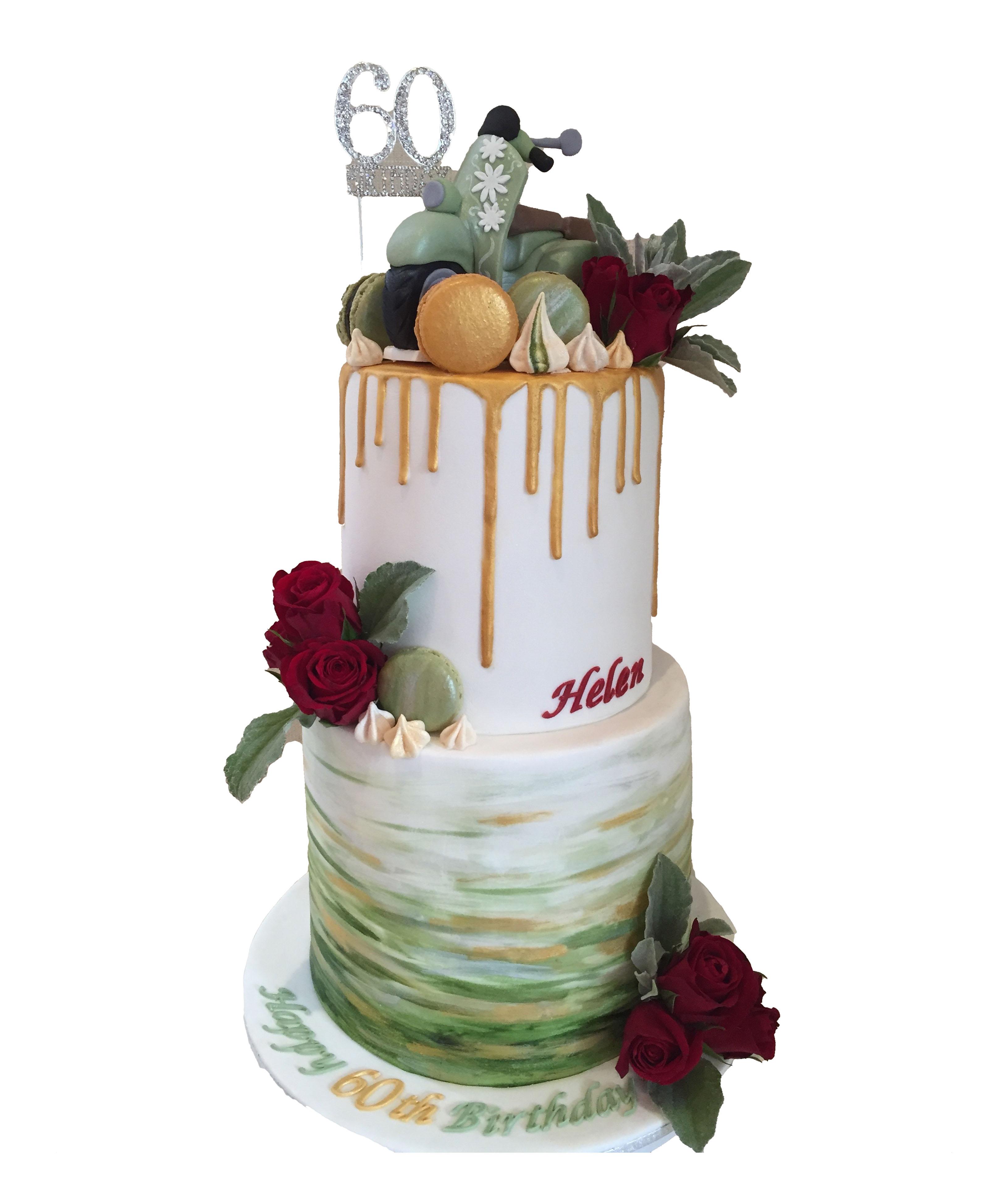 Vespa Scooter cake