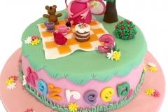 1 tier Peppa Pig cake