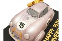 3D Classic Porsche 356 cake