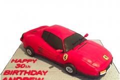 3D Ferrari cake
