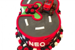 Blaze and Monster machines cake