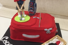 Golf Travel and Wine Cake
