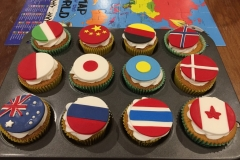 International Flags Cupcakes