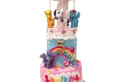 Little Pony and carousel cake