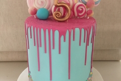 Lollies Pink Drip Cake