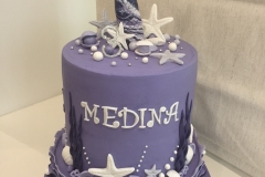 Mermaid 2 tiers Cake