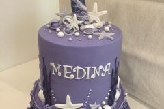 Mermaid 2 tiers Cake