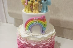 My Little Pony 2 tiers Cake