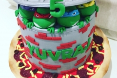 Ninja Turtles  Pizza Base Cake