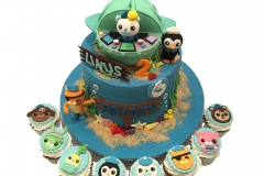 Octonauts and submarine cake