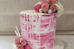 Pink Watercolour Buttercream Cake