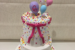 Rainbow Dots and balloons Cake