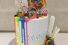 Rainbow Lollies Cake