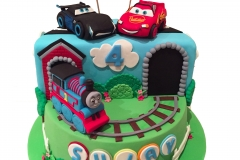 Thomas, McQueen and Jacksonstorm cake