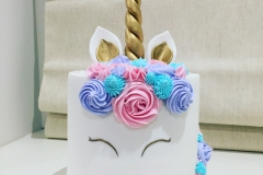 Unicorn with Pink Aqua and Purple Cake