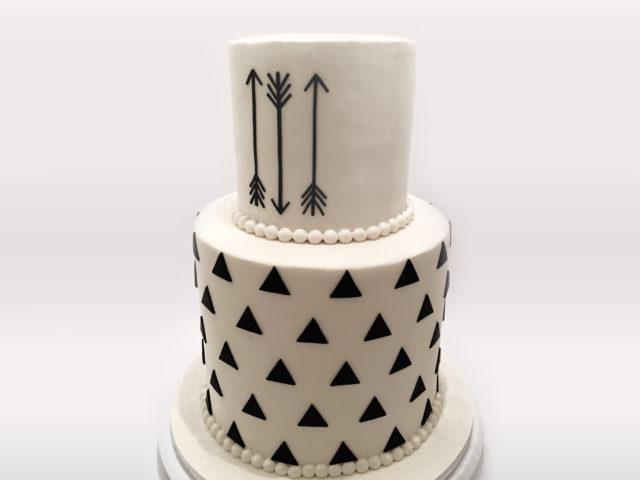 Black & White Arrow Cake