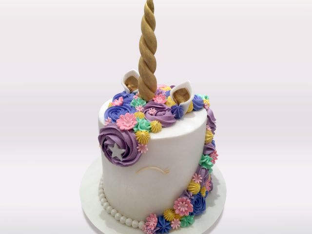 Unicorn Flower Cake