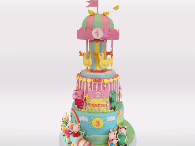 Peppa Pig Carousel Cake